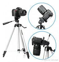 Штатив-трипод с телескопической осью для смартфона, GoPro и фотоаппарата до 3кг Tripod 330A с чехлом