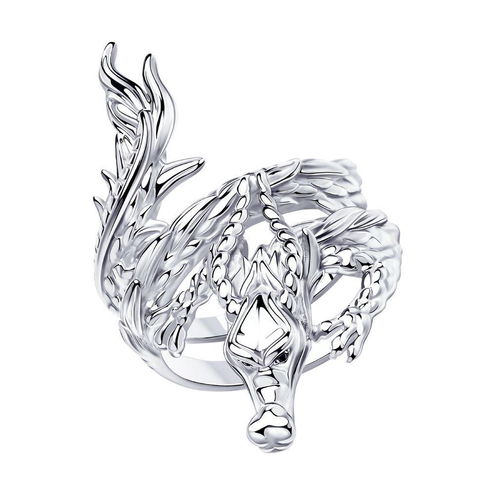 Кольцо из серебра с фианитом