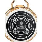Ковш с крышкой Agness эмалированная «Ренессанс» 0,9 л, фото 3