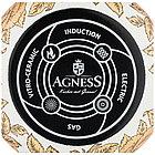 Кастрюля с крышкой Agness эмалированная «Ренессанс» 3,8 л, фото 2