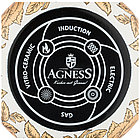 Кастрюля с крышкой Agness эмалированная «Ренессанс» 4,8 л, фото 2