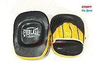 Боксерские лапы Everlast кожа (цвет желтый)