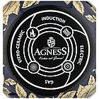 Кастрюля с крышкой Agness эмалированная «Ренессанс» 6,1 л, фото 3