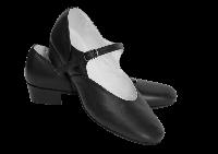 Туфли народные кожа Вариант Цвет Черный Размер 33 Материал Кожа