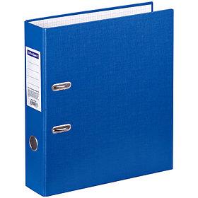 Папка-регистратор OfficeSpace, 70мм, бумвинил, с карманом на корешке, синяя