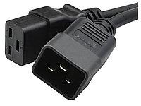 Hyperline PWC-IEC19-IEC20-3.0-BK Кабель питания IEC 320 C19 - IEC 320 C20 (3x1.5), 16A, прямая вилка, 2,2 м, фото 1