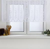 Занавеска для кухни без шторной ленты 75х140 см
