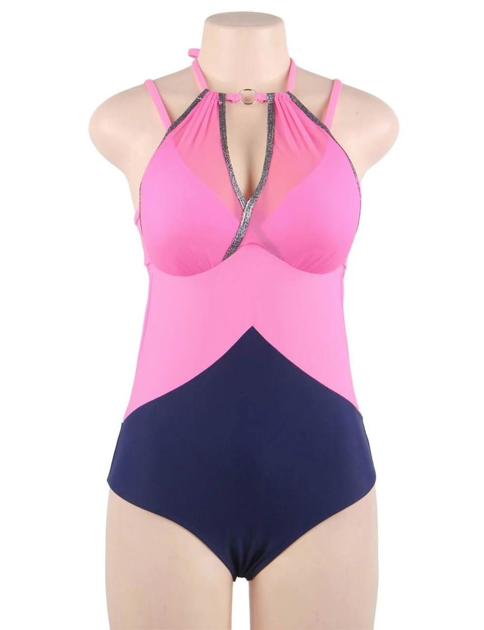 Купальник слитный Sexy Push Up Pink S, M, L, XL M - фото 3