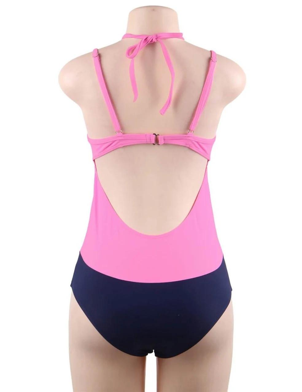 Купальник слитный Sexy Push Up Pink S, M, L, XL M - фото 4