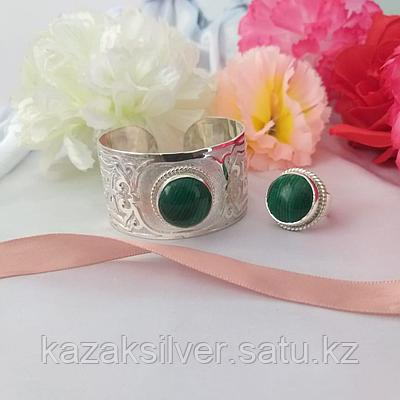 Браслет и кольцо из серебра 925пробы