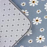 Набор ковриков для ванны и туалета «Ромашки», 2 шт: 50×80, 40×50 см, цвет серый, фото 3