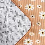 Набор ковриков для ванны и туалета «Ромашки», 2 шт: 50×80, 40×50 см, цвет бежевый, фото 3