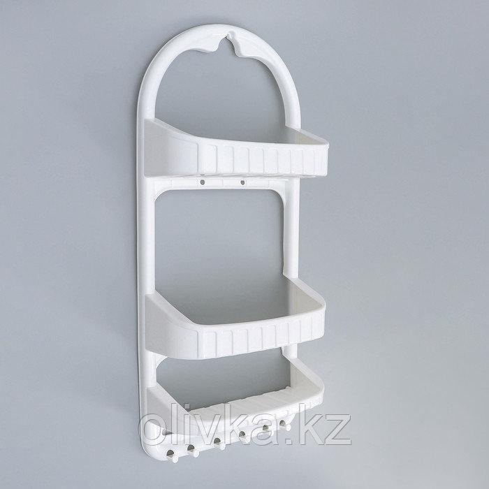 Полка для ванной комнаты DDSTYLE, 27×12,5×62 см, цвет белый