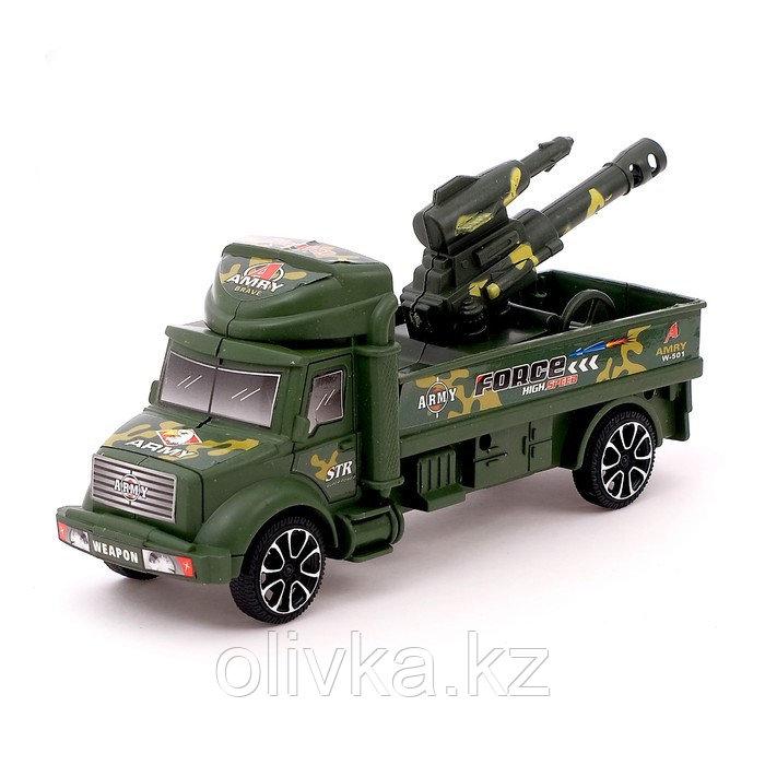 Грузовик инерционный «Военный автовоз» с пушкой