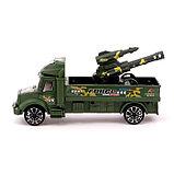 Грузовик инерционный «Военный автовоз» с пушкой, фото 2