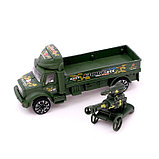 Грузовик инерционный «Военный автовоз» с пушкой, фото 4