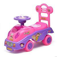 Толокар «Машинка для девочки», с музыкой, цвет розовый