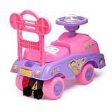Толокар «Машинка для девочки», с музыкой, цвет розовый, фото 3