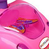 Толокар «Машинка для девочки», с музыкой, цвет розовый, фото 5