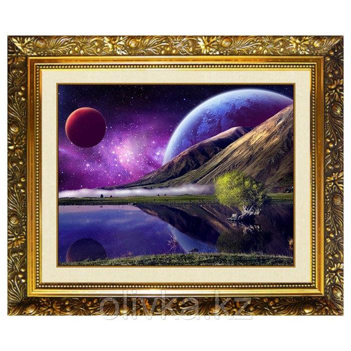 Алмазная мозаика «Уголок вселенной» 40x30см, 38 цветов