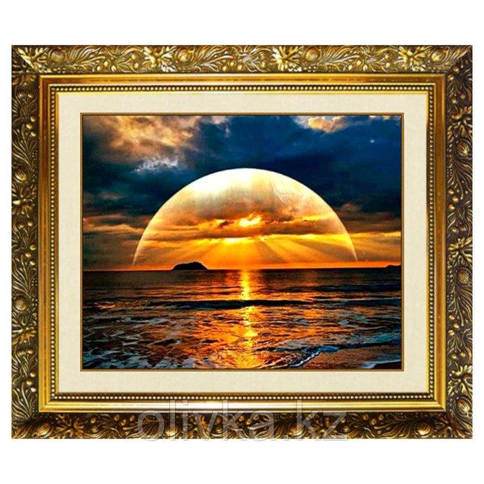 Алмазная мозаика на подрамнике «Морское великолепие» 50×40см, 35 цветов
