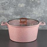 Набор посуды «Пинк», 4 предмета: кастрюли 8/6 л ,сковорода 30×4,5 см, ковш 2 л, набор приборов, фото 2