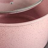 Набор посуды «Пинк», 4 предмета: кастрюли 8/6 л ,сковорода 30×4,5 см, ковш 2 л, набор приборов, фото 3