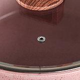 Набор посуды «Пинк», 4 предмета: кастрюли 8/6 л ,сковорода 30×4,5 см, ковш 2 л, набор приборов, фото 4