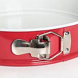Набор форм для выпечки разъёмных «Флёри. Круг», 3 шт: 28 см, 26 см, 24 см, с керамическим покрытием, цвет, фото 2