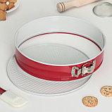 Набор форм для выпечки разъёмных «Флёри. Круг», 3 шт: 28 см, 26 см, 24 см, с керамическим покрытием, цвет, фото 3