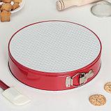 Набор форм для выпечки разъёмных «Флёри. Круг», 3 шт: 28 см, 26 см, 24 см, с керамическим покрытием, цвет, фото 5
