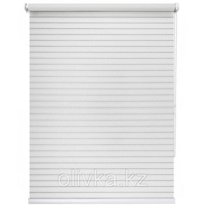 Рулонная штора «Кутюр», 140 х 175 см, цвет белый