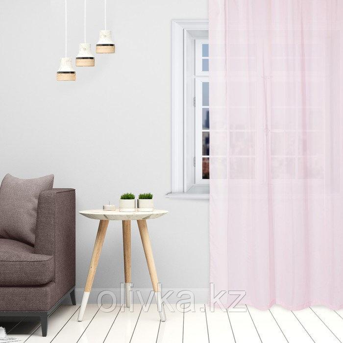 Тюль «Этель» 290×300 см, цвет розовый, вуаль, 100% п/э