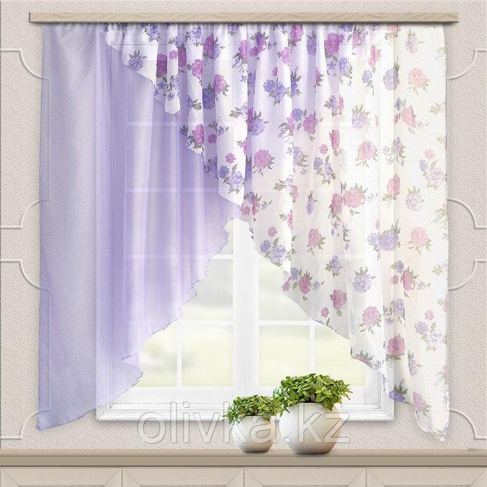 Комплект штор для кухни Марианна 300х160см, сиреневый, пэ 100%