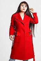 Красное шерстяное женское пальто Gucci