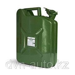 Канистра топливная металлическая вертикальная 10 л (зелёная) AVS VJM-10