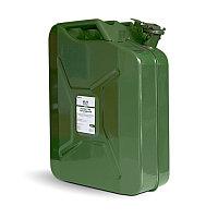 Канистра топливная металлическая вертикальная 20 л (зелёная) AVS VJM-20