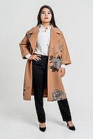 Пальто с принтом кашемировое теплое красивое