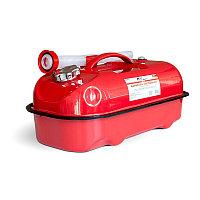 Канистра топливная металлическая горизонтальная 10 л (красная) AVS HJM-10, фото 1