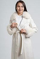 Пальто белое молодежное брендовое кашемир 100%