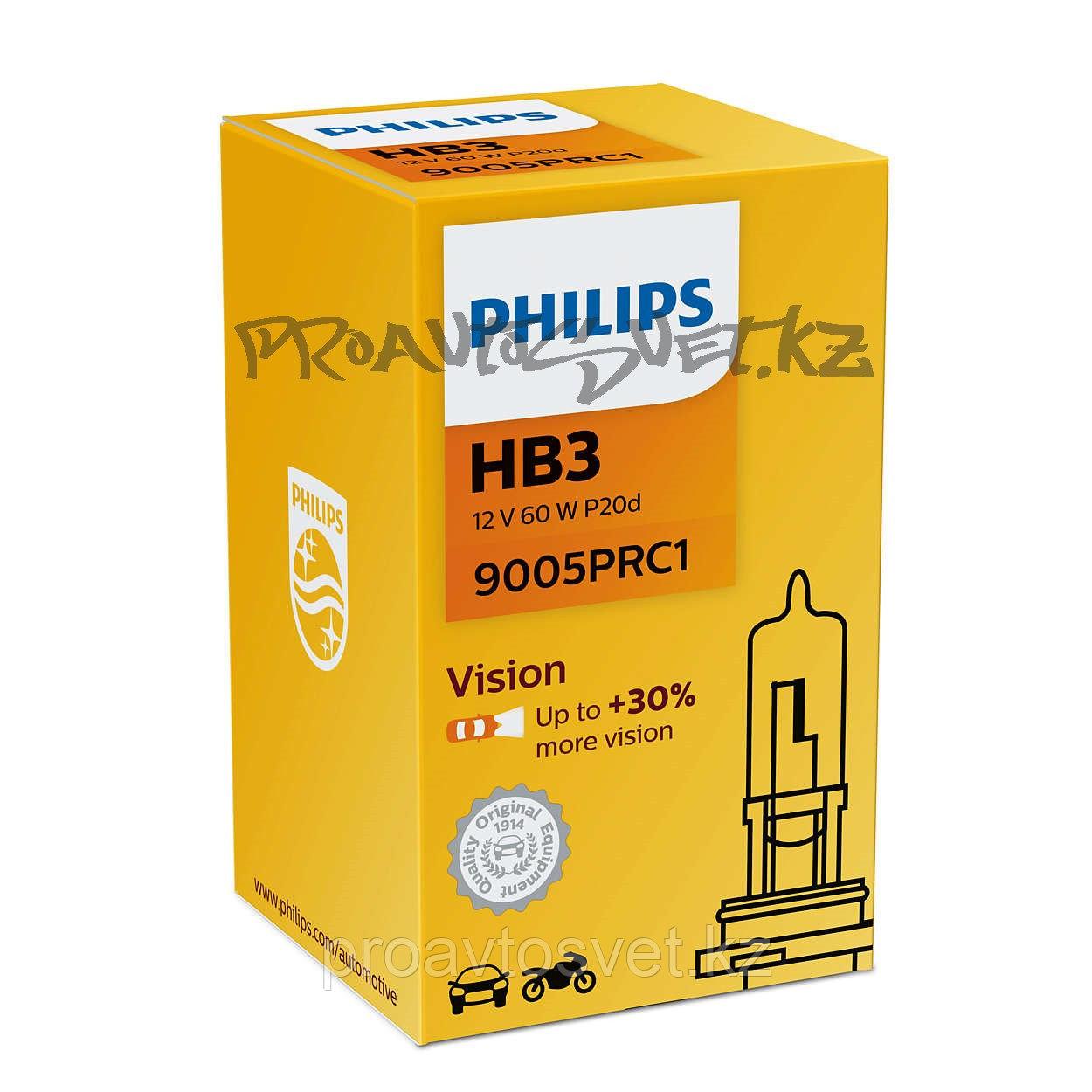 Галоген PHILIPS HB3 Premium +30% 12V 60W 9005PRC1