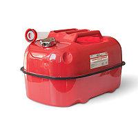 Канистра топливная металлическая горизонтальная 20 л (красная) AVS HJM-20, фото 1