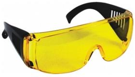 Очки защитные с дужками желтые (линзы поликарбонат, дужки ПВХ) 20340