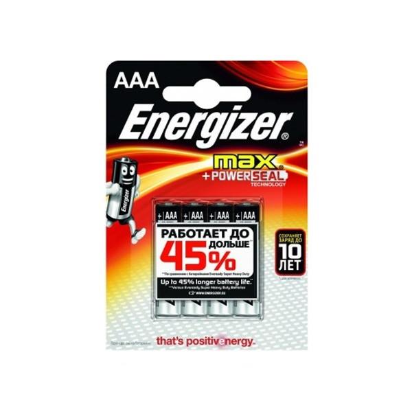 Элемент питания Energizer LR03 AAA POWER Alkaline (4 штуки)