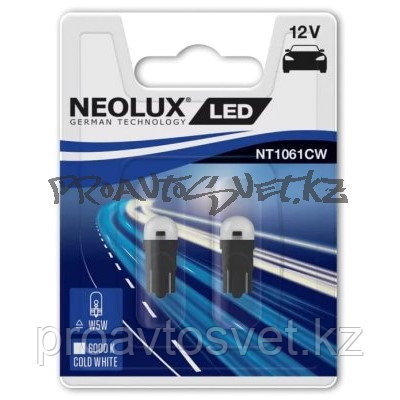 LED NEOLUX W5W 6000K 12V 0.5W NT1061CW-02B