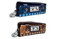 Пенал 1 отд.+ кармашек + кошелек, ткань, в блистере1502 с код,замком