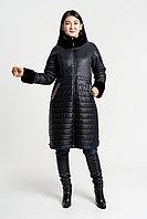Зимняя женская черная стеганая термо куртка