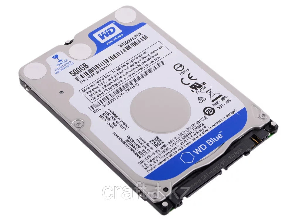 Жесткий диск для ноутбука 500 GB, Western Digital, SATA III/ HDD