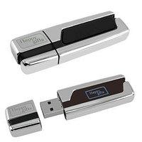 USB flash-память с подсвечивающимся логотипом (4Gb), серебристый, черный, , 13407_4Gb