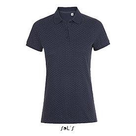 Рубашка поло женская Brandy, темно-синяя с белым